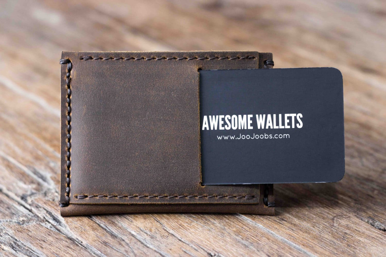 84c003c7d2cf7 Mens Front Pocket Wallet - Add Monogram  Handmade   FREE Shipping