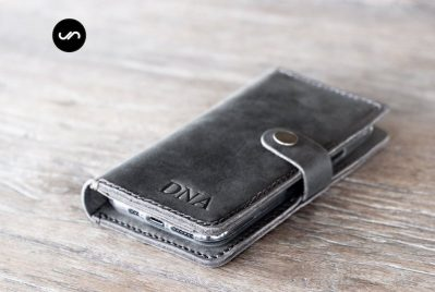 Leather iPhone 11 Wallet Case Dark [All iPhone Devices] 1