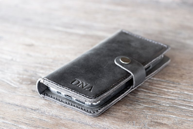 Leather iPhone 11 Wallet Case Dark [All iPhone Devices] 6