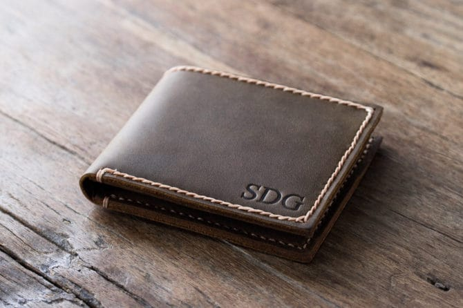 Mens Leather Wallet with Coin Pocket - 003 - 03