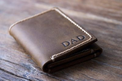 Mens Trifold Wallet Personalized
