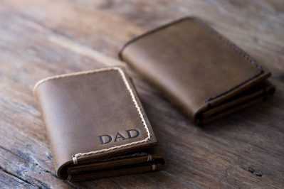 Mens Trifold Wallet [Personalized] [Handmade] [Free Shipping] 2