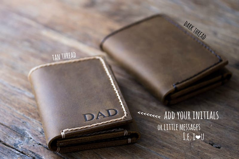 Mens Trifold Wallet [Personalized] [Handmade] [Free Shipping] 3