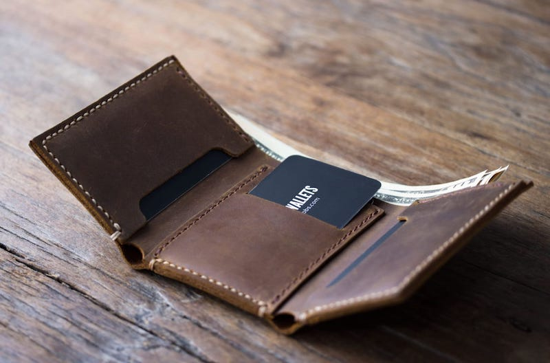 Mens Trifold Wallet [Personalized] [Handmade] [Free Shipping] 4