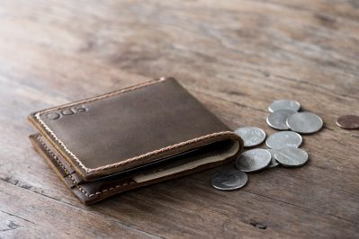 handmade leather coin wallet