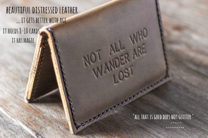 Handmade Leather Wallet by JooJoobs - Listing 036