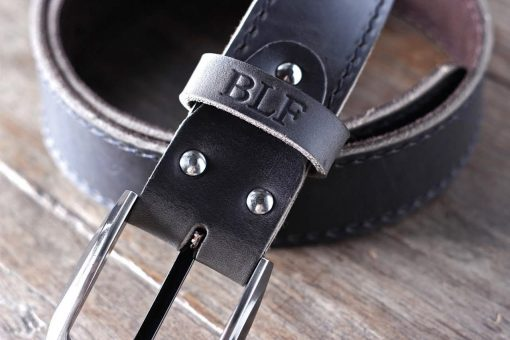 Leather Belt with ninja HIDDEN Pocket - 091