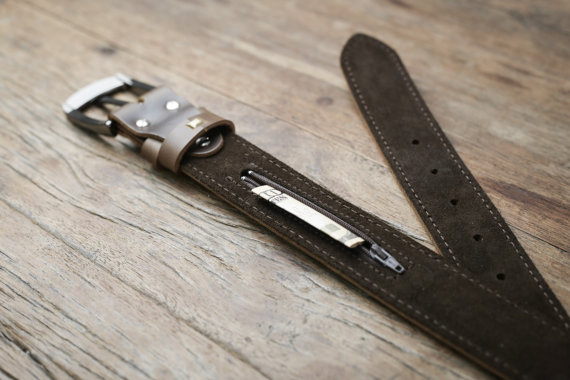 Mens Brown Leather Belt [Handmade] [Personalized] [Free Shipping] 2
