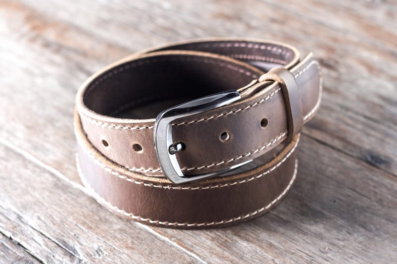 Mens Brown Leather Belt [Handmade] [Personalized] [Free Shipping] 3