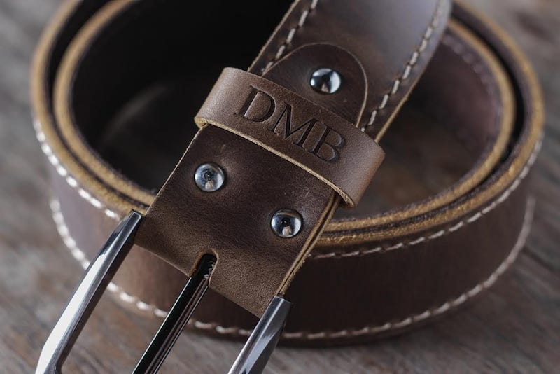 Mens Brown Leather Belt [Handmade] [Personalized] [Free Shipping] 6