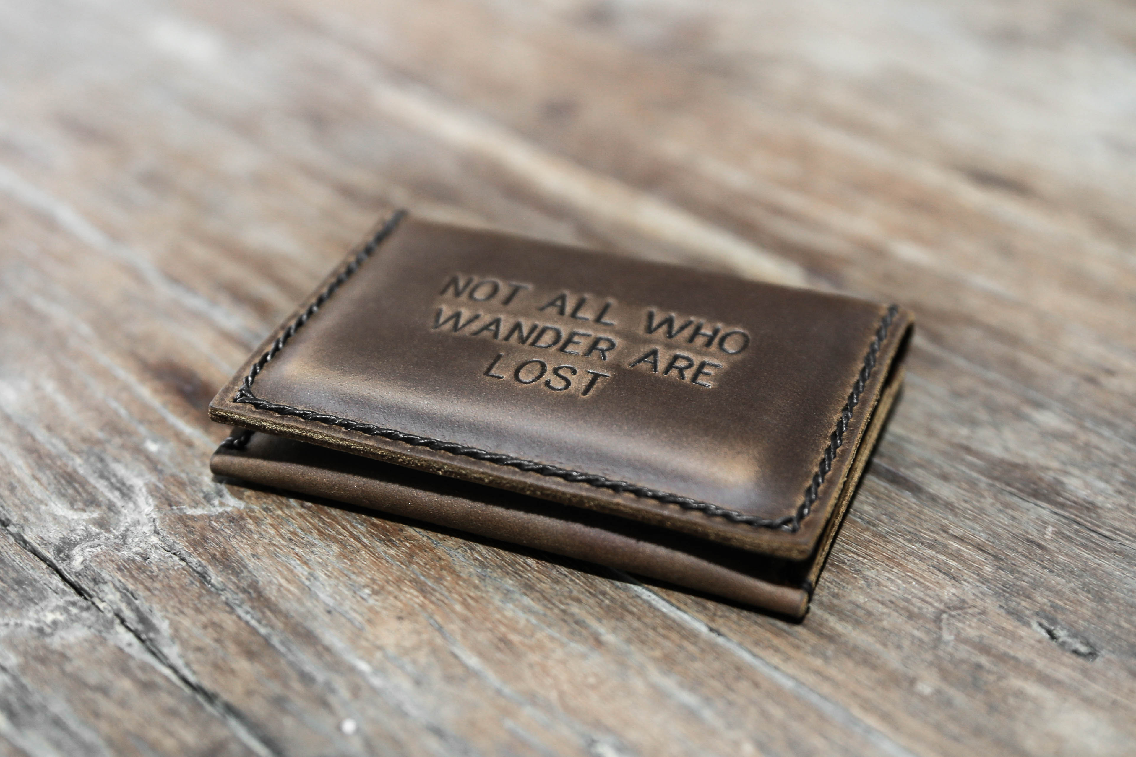 Not all who wander are lost wallet