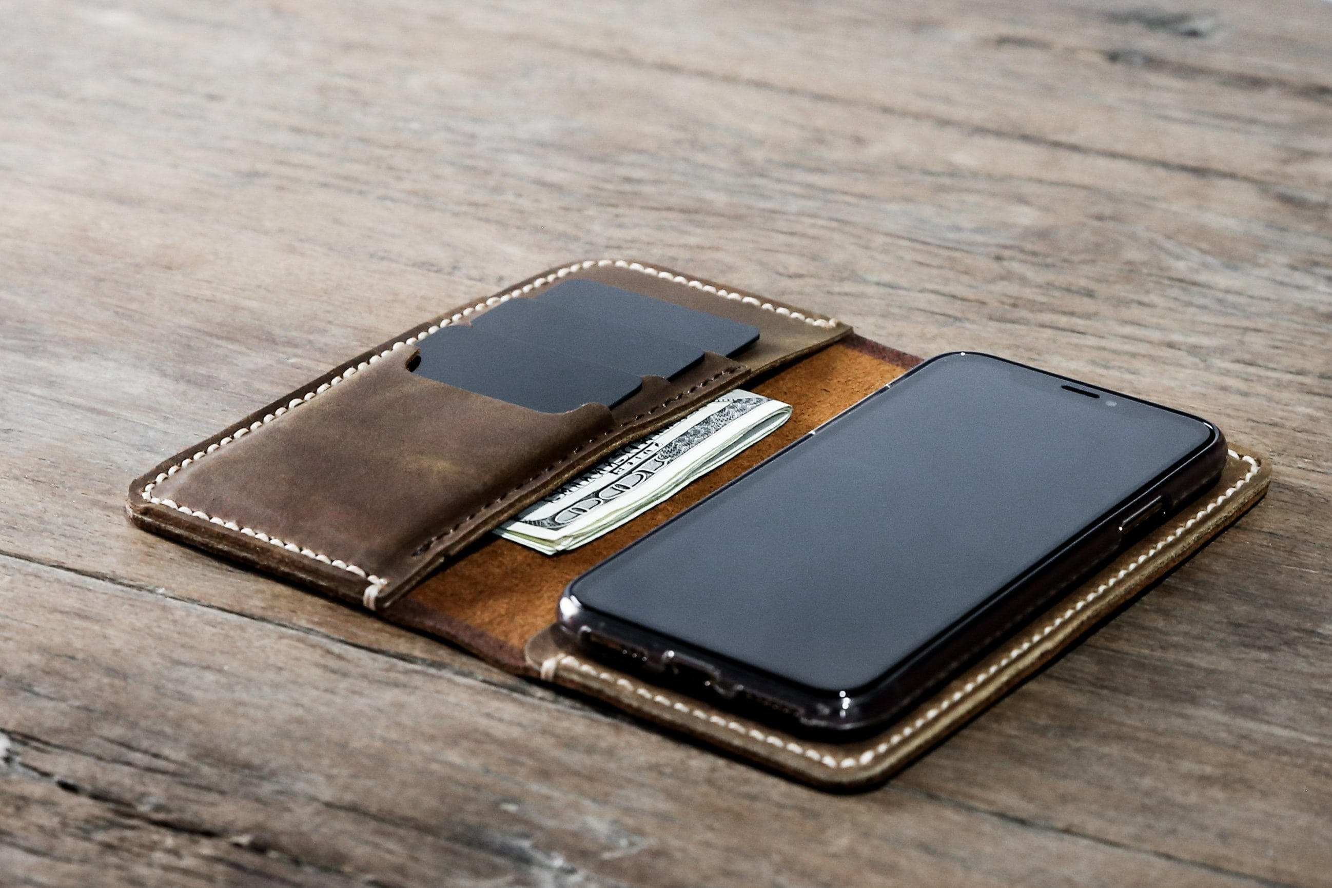 check out 4ed85 4e376 iPhone X(s)(XR)(XsMAX) Leather Wallet [Handmade] [Free Shipping]