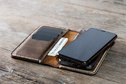 6fc9f130f3b9c iPhone X(s)(XR)(XsMAX) Leather Wallet  Handmade   Free Shipping