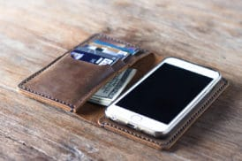 leather iphone wallet case 055-3