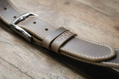 mens brown leather belt
