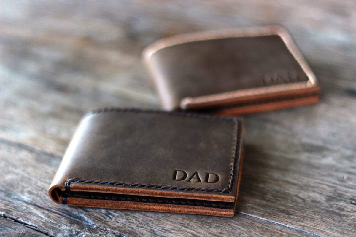 Handmade Mens Leather Bifold Wallet