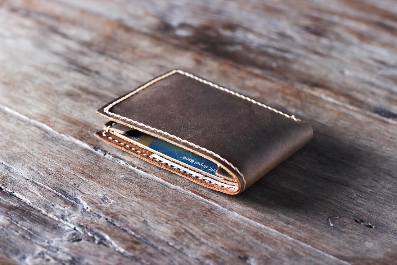 handmade leather wallet  joojoobs