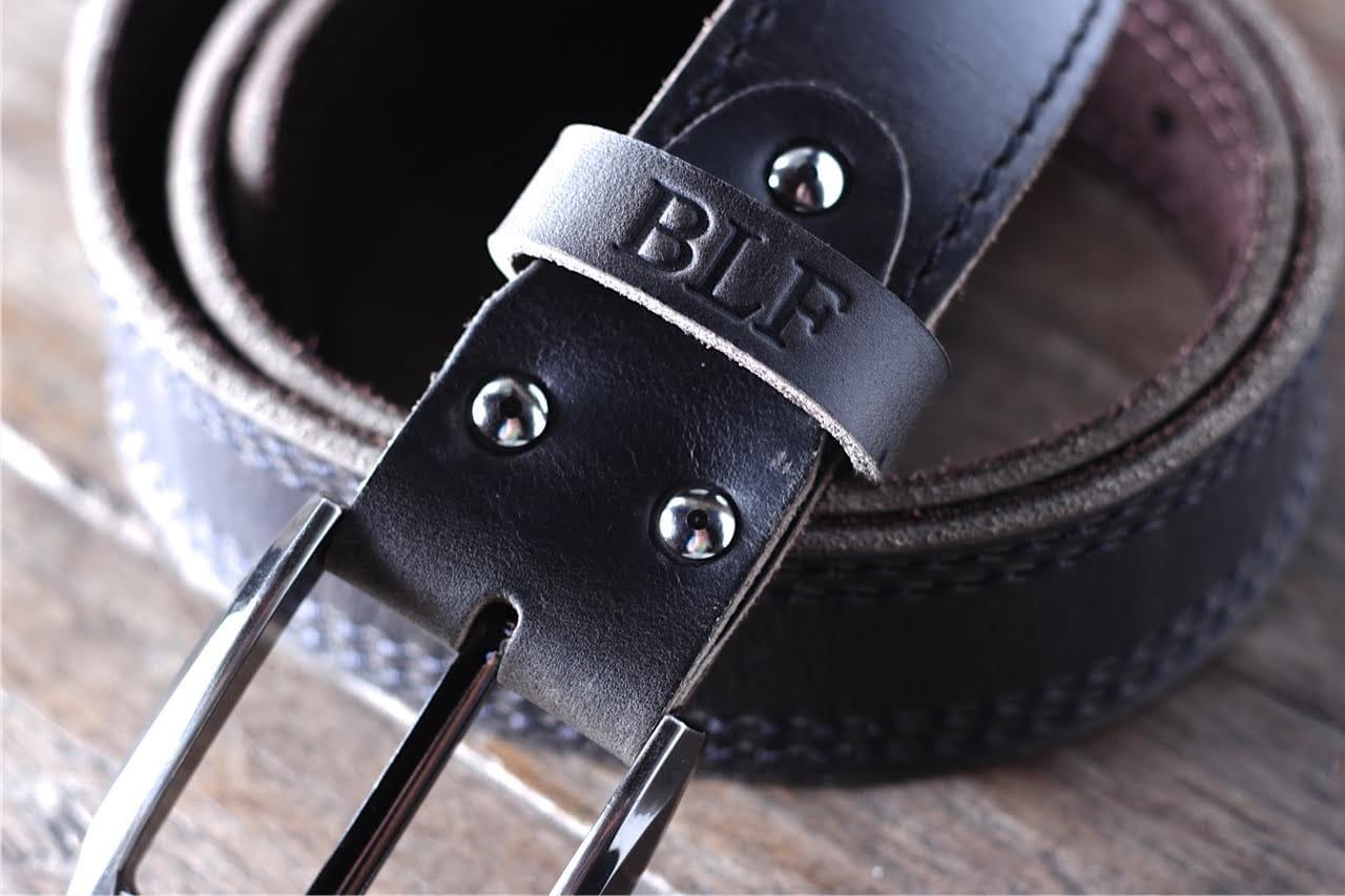 Mens Black Leather Belt With Ninja Hidden Pocket Joojoobs