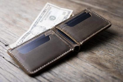7c0843a08a5b1 Best Man Leather Wallet  Handmade   Personalized   Wedding Gift Idea