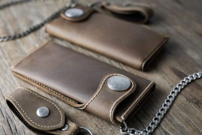 Mens Leather Biker Wallet
