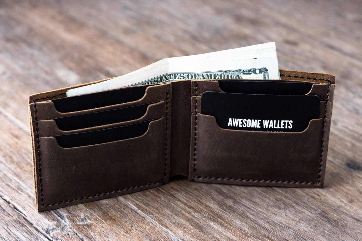 Big Texas Wallet Handmade Manly Mans Leather Bifold