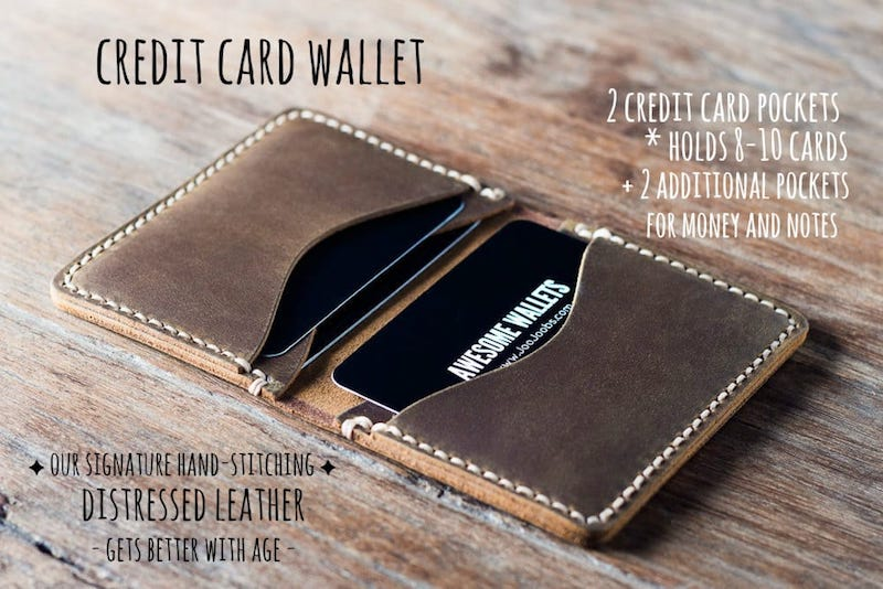 Mens Credit Card Wallet [Handmade] [Personalized] [Free Shipping] 1