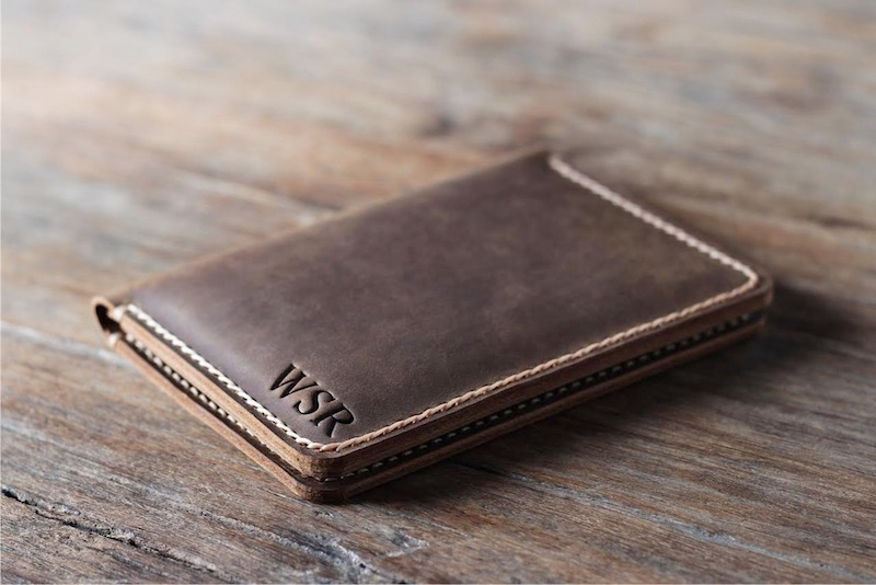 Mens Leather Travel Wallet [Personalized] [Handmade] [Free Shipping] 3