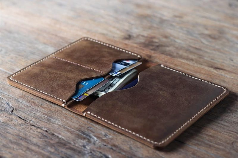 Mens Leather Travel Wallet [Personalized] [Handmade] [Free Shipping] 4