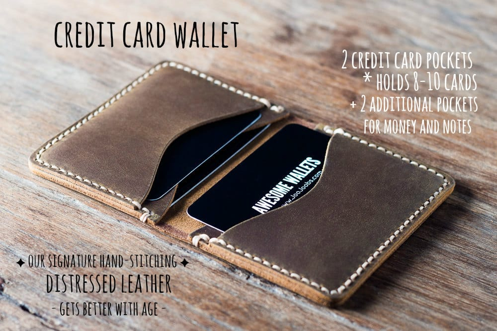 90133c1480a4ad Mens Credit Card Wallet [Handmade] [Personalized] [Free Shipping]