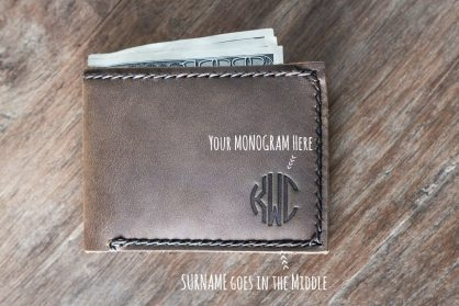 64a96ceb61803 Slim Mens Wallet Bifold  Handmade   Personalized   Free Shipping