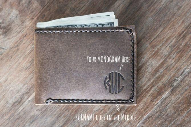 Monogram Wallet - leather wallet 024