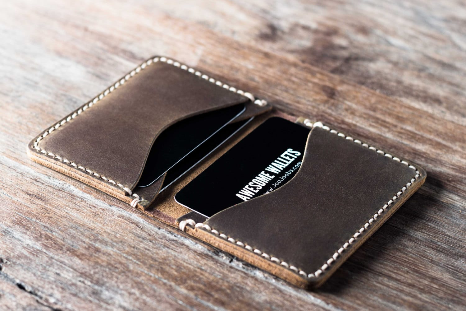 credit card wallet Mens Credit Card Wallet [Handmade] [Personalized] [Custom]