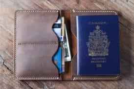 Passport Wallet, Leather Passport Wallet – 021P
