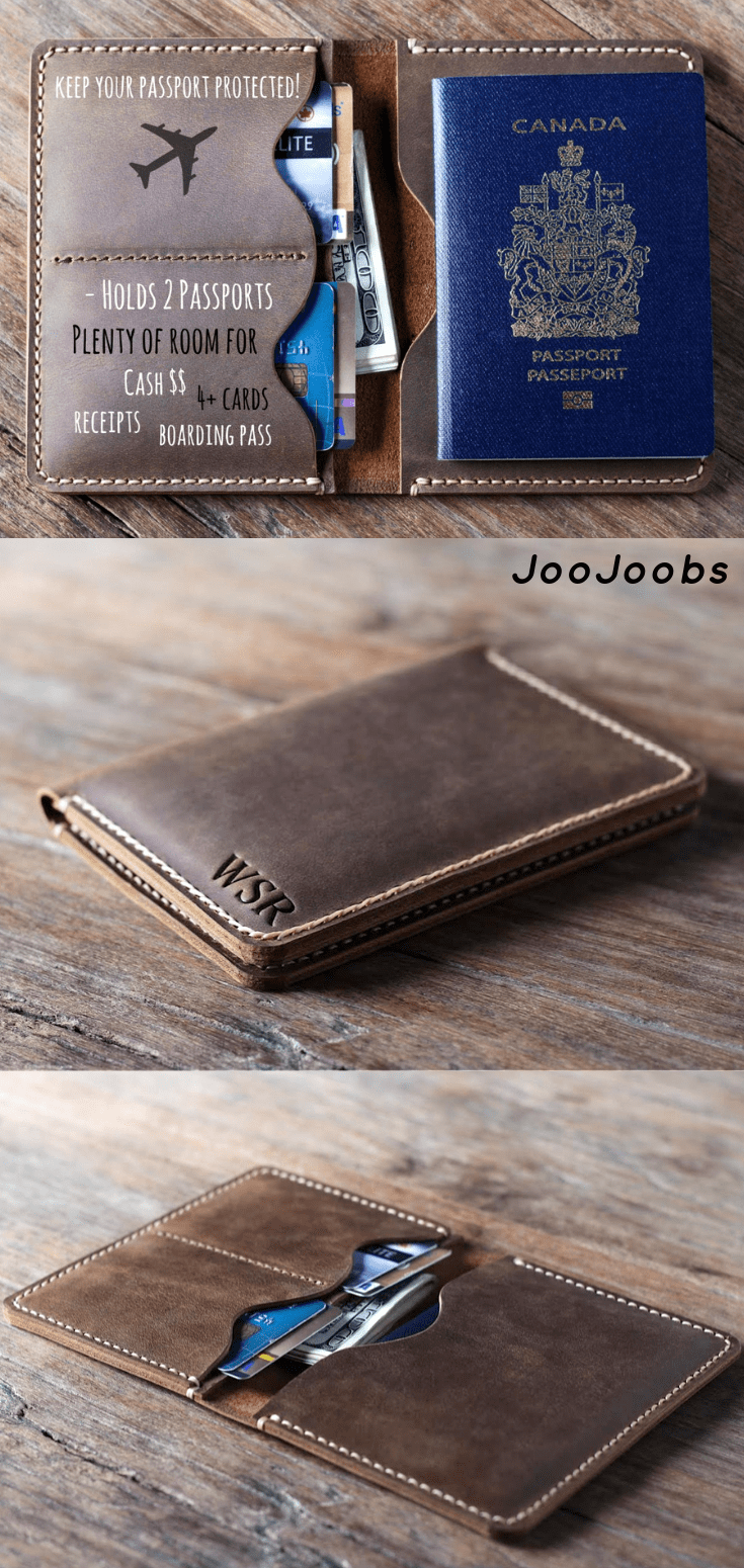 Traveling these holidays?✦Travel in style with a passport wallet✦Leather Products by the master craftspeople at JooJoobs✦Full Grain Leather✦COME Visit our shop✦Satisfaction Guaranteed✦Personalized Gift Ideas✦Customized gifts✦Add your name, initials, logo, quote✦Best Etsy Shop✦Award Winning Designs✦JooJoobs✦express FREE SHIPPING(all orders receive free shipping)✦Use Coupon Code:OVER100 to receive 10% off your order #travel #passport #wallet #handmade #personalized