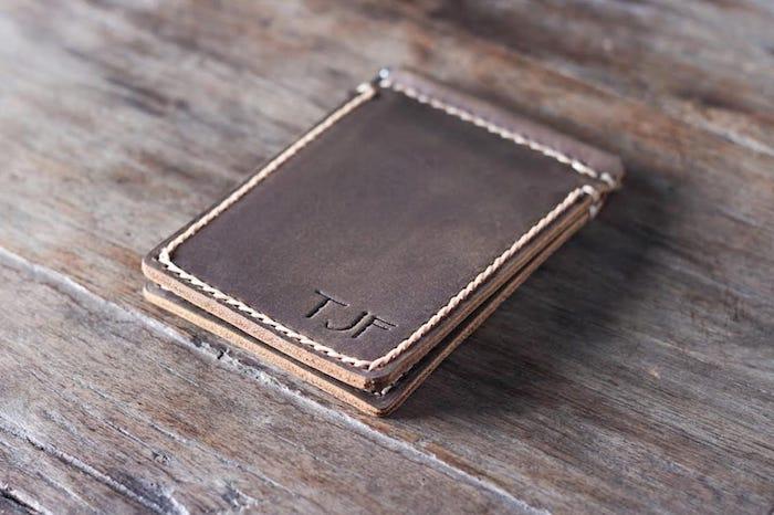 Super Slim Leather Money Clip Wallet 1