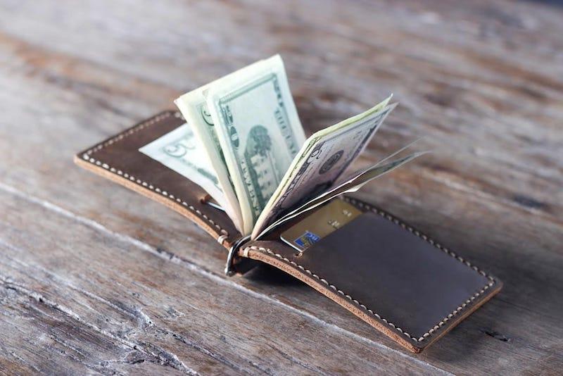 Super Slim Leather Money Clip Wallet 3