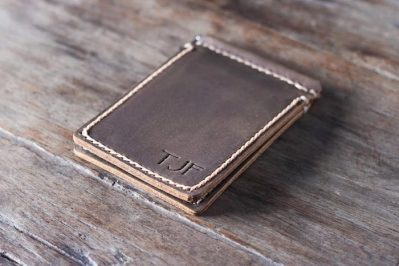 Super Slim Leather Money Clip Wallet