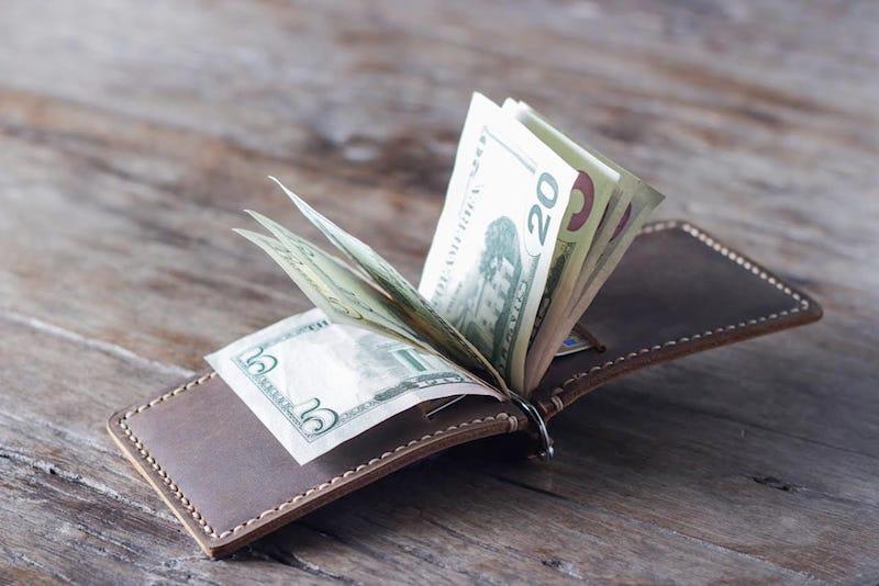 Super Slim Leather Money Clip Wallet 4