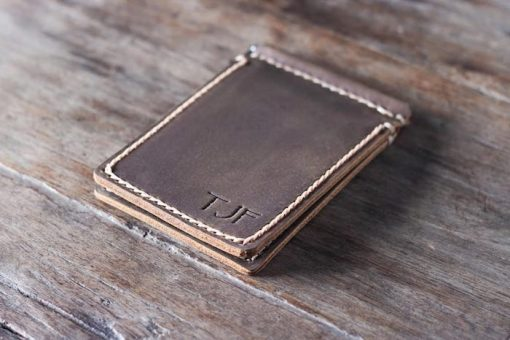 Super Slim Leather Money Clip Wallet