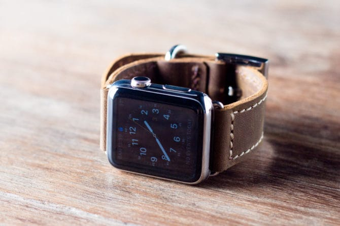 handmade leather apple watchband
