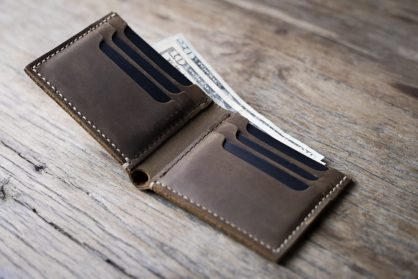 7fa2e09713ec47 Big Texas Wallet [Handmade] [Distressed Leather] [Free Shipping]