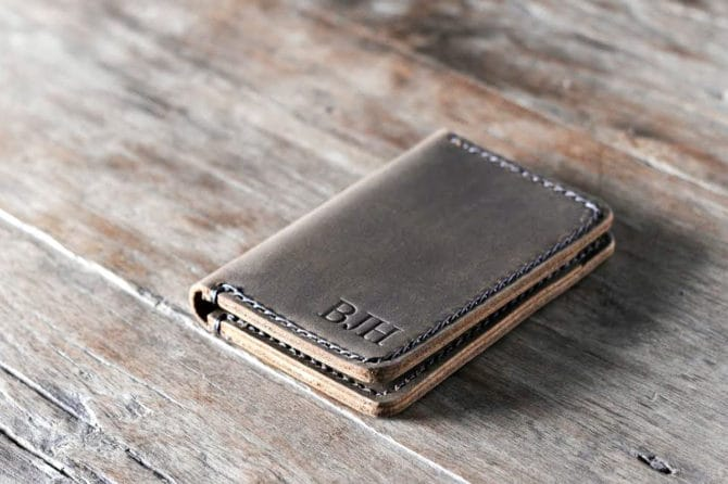 handmade leather wallet