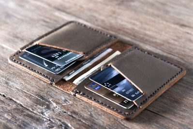 Personalized Handmade Leather Wallet Must Have Free Shipping