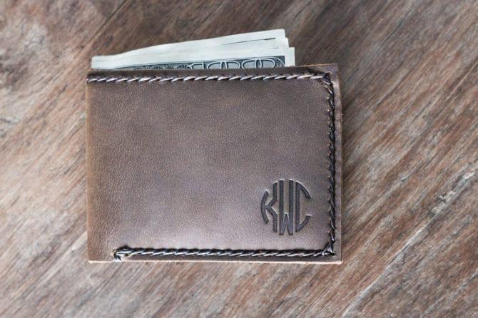 minimalist slim wallet personalized