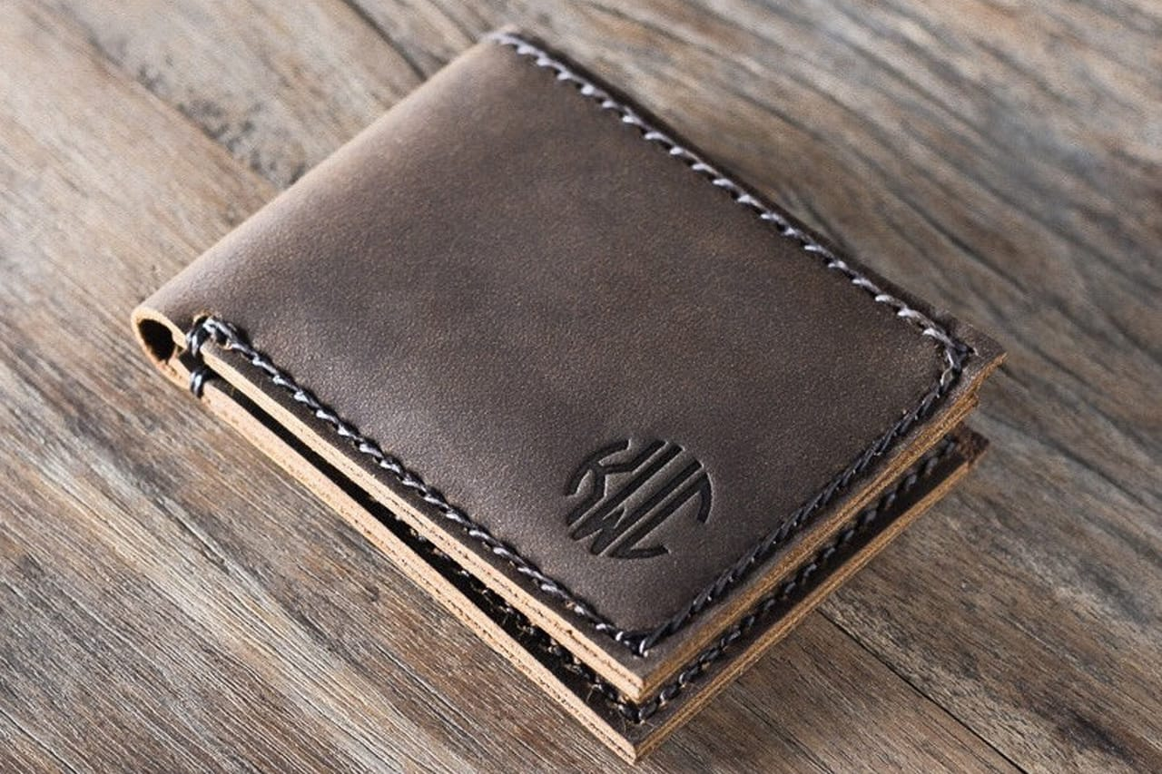 Slim Mens Wallet Personalized Joojoobs
