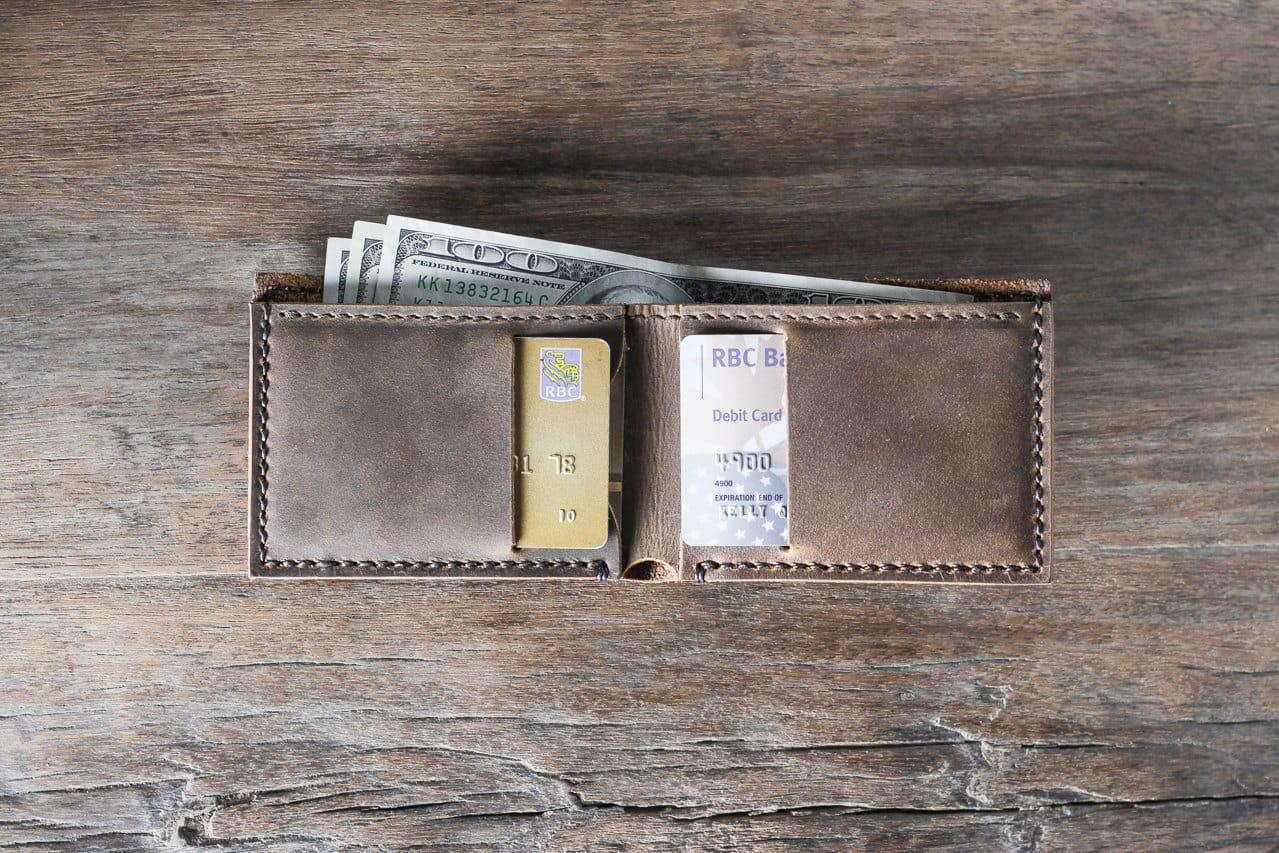 Slim Mens Wallet Personalized