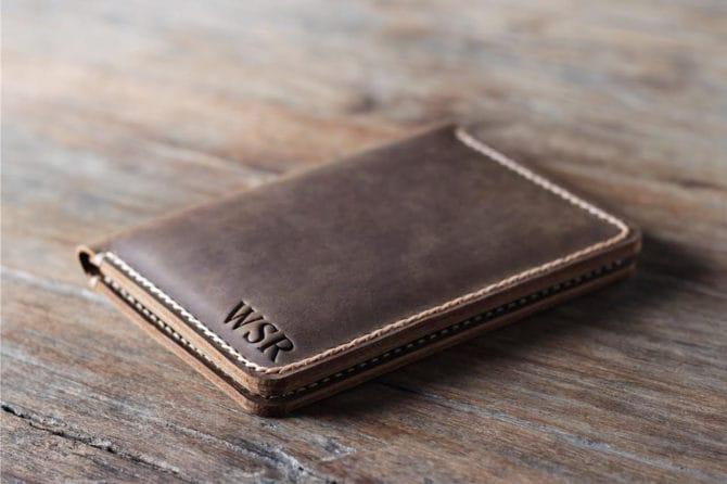 passport leather travel wallet