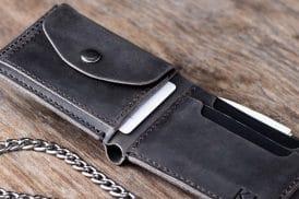 Leather Biker Coin Wallet 038-2