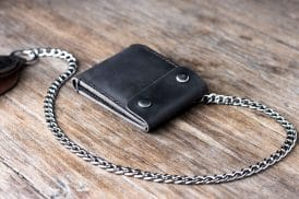 Leather Biker Coin Wallet 038-3