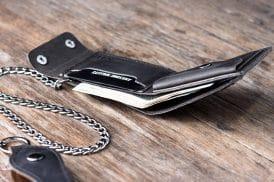 Leather Biker Coin Wallet 038-4